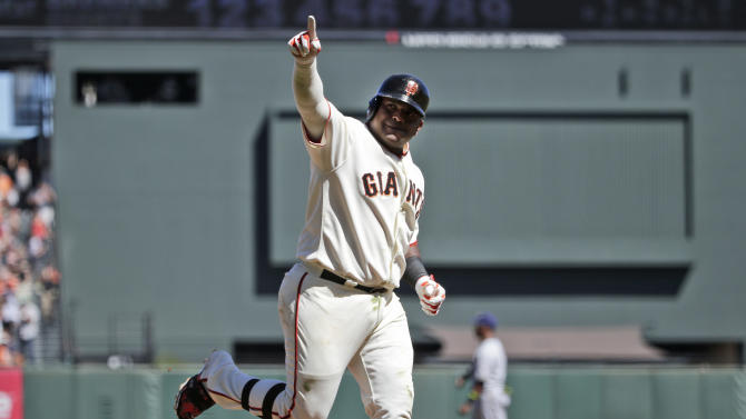Giants power past Brewers 15-5 for 3-game sweep