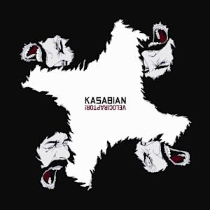 "In this CD cover image released by Columbia Records, the latest release by Kasabian, ""Velociraptor!,"" is shown. (AP Photo/Columbia Records)"