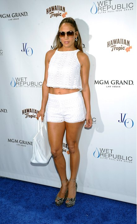 Jennifer Lopez Celebrates World Tour With Special Appearance At Wet Republic At MGM Grand
