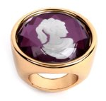 Gold cameo signet ring from asos.com, $10.15.