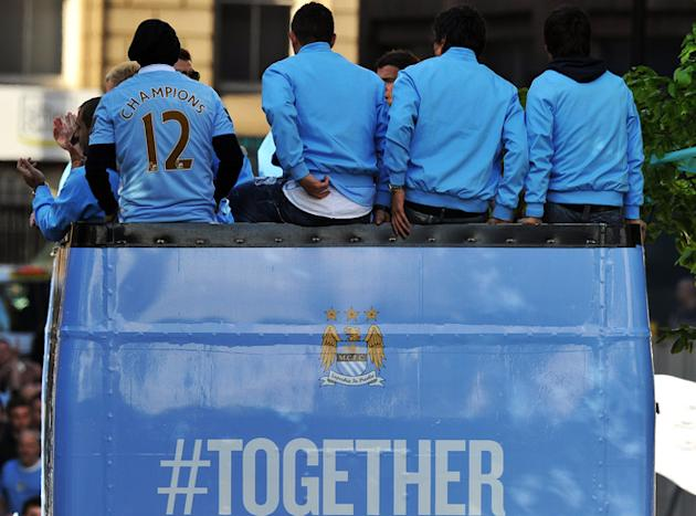 Manchester City Players AFP/Getty Images