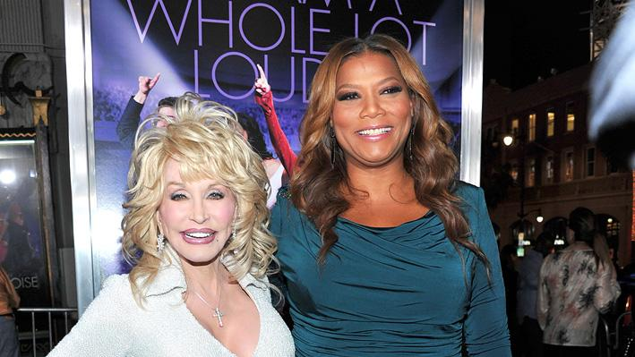 Joyful Noise 2012 LA Premiere Dolly Parton Queen Latifah