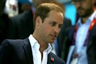 Prince William, Duke of Cambridge attends the swimming finals session on Day 7 of the London 2012 Olympic Games at the Aquatics Centre on August 3, 2012 -- Getty Images