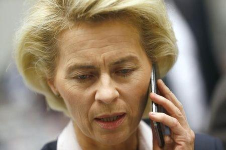 German Defence Minister Ursula von der Leyen attends CDU and SPD fraction meeting in Berlin