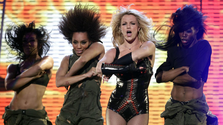 Singer Britney Spears performs on ABC's