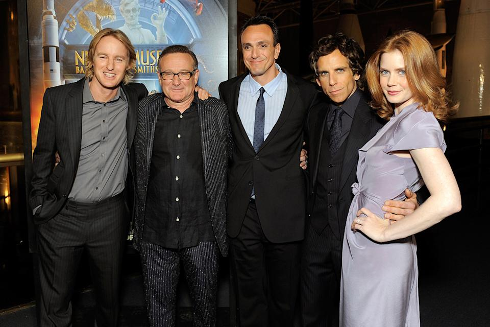 Night at the Museum 2 DC premiere 2009 Owen Wilson Robin Williams Hank Azaria Ben Stiller Amy Adams