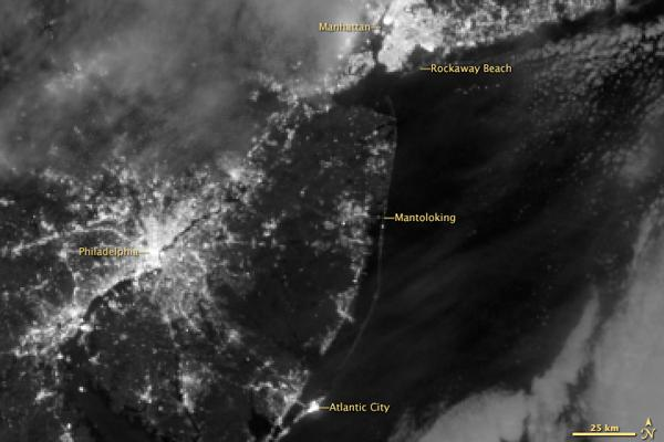 Sandy Power Outages Spotted from Space