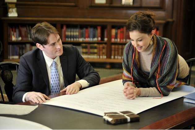 "D. Joshua Taylor, Director of Education and Programs at New England Historic Genealogical Society and Ashley Judd as seen on ""Who Do You Think You Are?"""