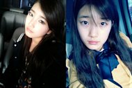 Suzy discloses a photo of herself with blue eyes