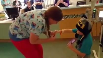 5-Year-Old Boy Battling Cancer Proposes to Nurse With Pipe Cleaner Ring