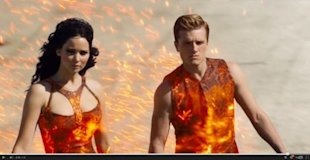 Katniss and Peeta in