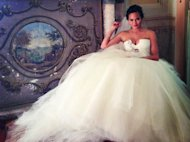 Chrissy Teigen in her wedding gown -- Instagram