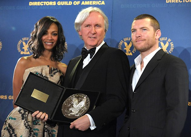 62nd Annual DGA Awards 2010 Zoe Saldana James Cameron Sam Worthington