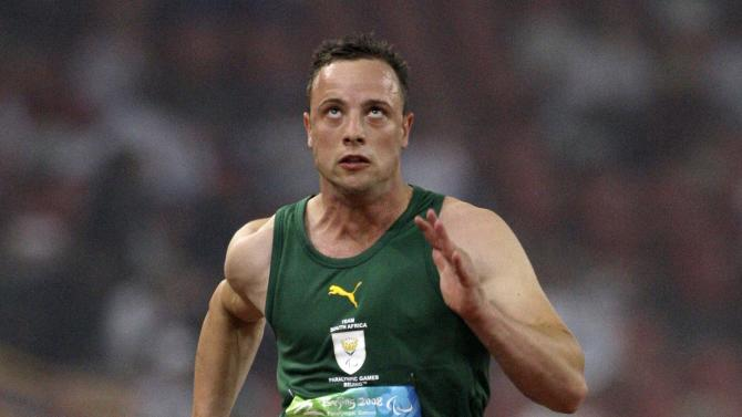 File photo of South Africa's Oscar Pistorius running during his heat of the Men's 100m T44 at the National Stadium during the Paralympics in Beijing