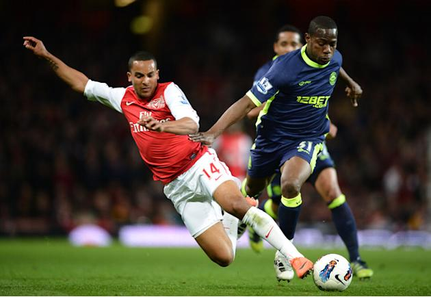 Theo Walcott Of Arsenal Is Getty Images