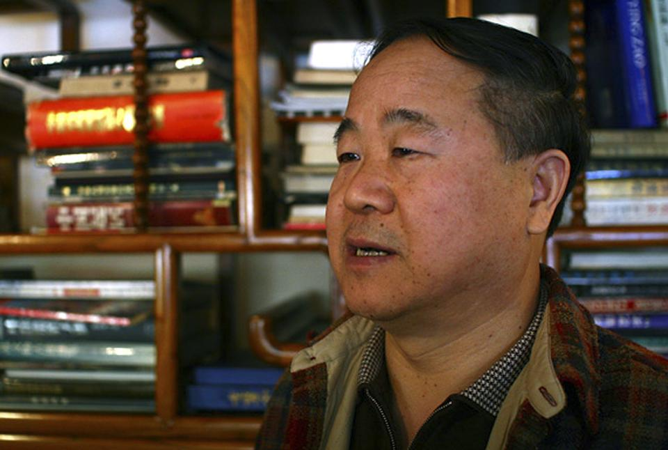 In this photo taken Monday, Oct 22, 2007, Chinese writer Mo Yan speaks during an interview at a teahouse in Beijing. Mo won the Nobel Prize for literature Thursday, Oct. 11, 2012. (AP Photo/Aritz Parra)