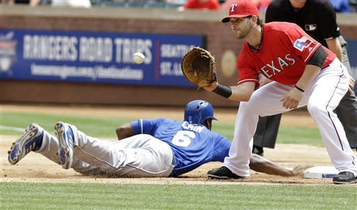 Lough HBP in 10th leads Royals over Rangers