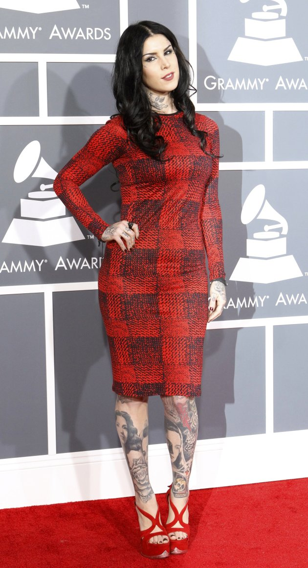 Tattoo artist Kat Von D arrives …