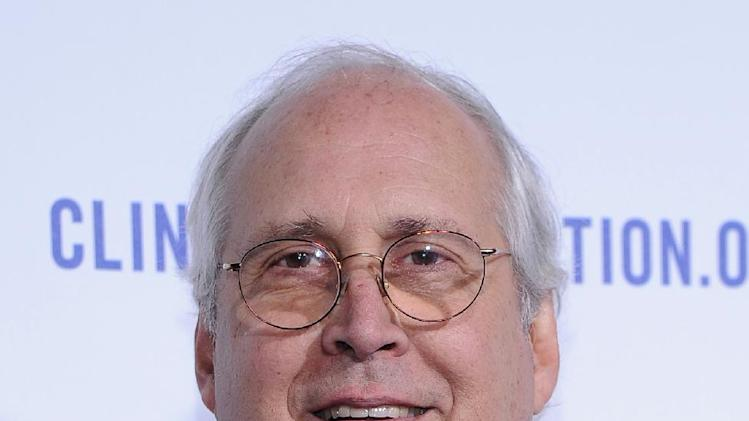 "FILE - In this Oct. 14, 2011 file photo, actor Chevy Chase arrives at The Clinton Foundation Gala in Honor of ""A Decade of Difference"", at The Hollywood Palladium in Hollywood, Calif. A second voicemail message from Chevy Chase leaked online Tuesday, depicting a deep rift between the veteran comedian and his ratings-challenged NBC sitcom ""Community.""  (AP Photo/Kristian Dowling)"