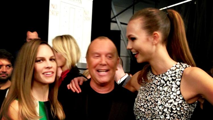 Hilary Swank, Michael Kors, Karlie Kloss