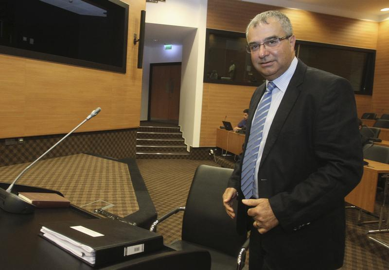 Cyprus Central Bank Governor Demetriades prepares to testify at a judicial inquiry in Nicosia