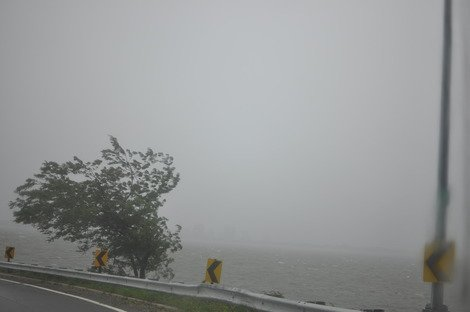 Hurricane Irene off Belt Parkway. (Photo courtesy of Charles Manley.)