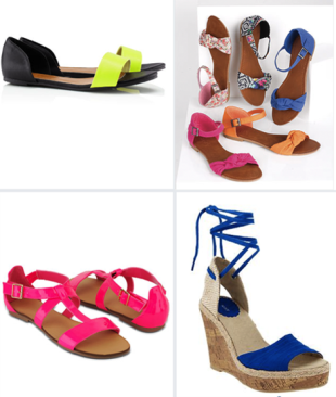 Join the summer color block party in these affordable sandals!