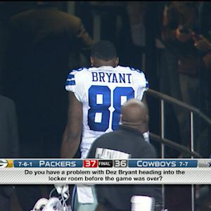 Was it wrong for Dallas Cowboys wide receiver Dez Bryant to walk off the field?