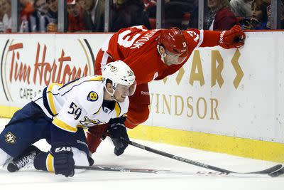NHL schedule: Old rivals Nashville, Detroit square off in Music City