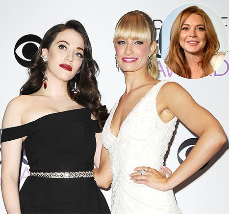 2 Broke Girls Stars Kat Dennings, Beth Behrs: Lindsay Lohan Wasn't a Train Wreck On Set