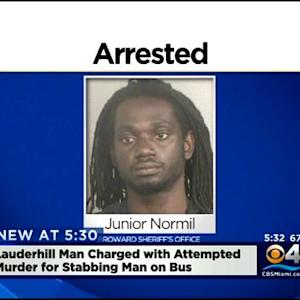 Lauderhill Man Charged With Attempted Murder Accused Of Stabbing A Man On A Bus