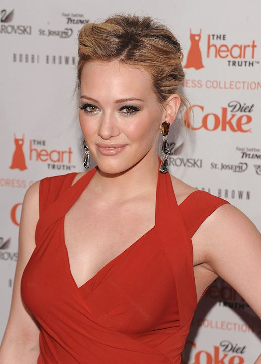 Hilary Duff attends the Heart Truth's Red Dress Collection 2009 Fashion Show during Mercedes-Benz Fashion Week Fall 2009 at The Tent, Bryant Park on February 13, 2009 in New York City.