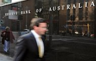 "File photo shows the exterior wall of the Reserve Bank of Australia in Sydney. Australia's central bank chief on Tuesday played down fears of a significant slowdown in key trading partner China, describing it as ""cyclical"" in an upbeat assessment of the domestic economy"