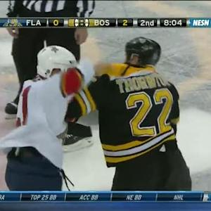 Shawn Thornton and Krys Barch scrap