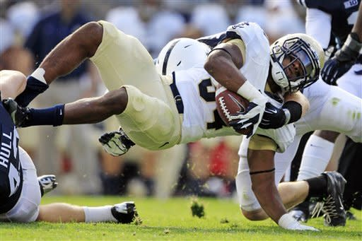 Penn State beats Navy 34-7 for O'Brien's 1st win