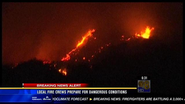 Local fire crews prepare for dangerous conditions