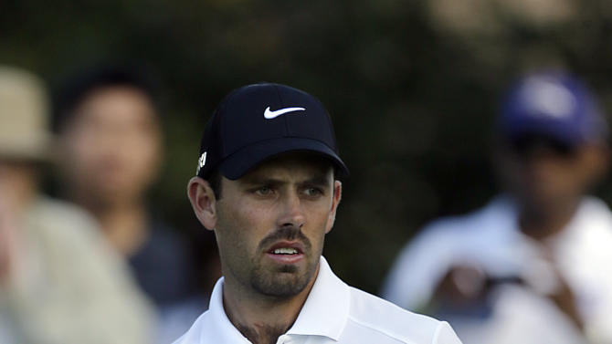 Charl Schwartzel, of South Africa, watches his first putt, on the way to birdie, on the first green in the third round of the Northern Trust Open golf tournament at Riviera Country Club in the Pacific Palisades area of Los Angeles Saturday, Feb. 16, 2013. (AP Photo/Reed Saxon)