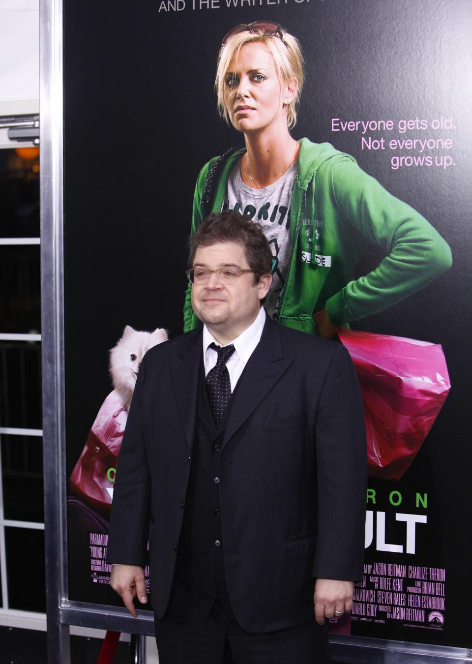 "Actor Patton Oswalt attends the premiere of ""Young Adult"" at the Ziegfeld Theatre on Thursday, Dec. 8, 2011 in New York. (AP Photo/Peter Kramer)"