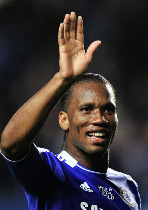  Chelsea's Ivorian Striker Didier Drogba Waving To His AFP/Getty Images