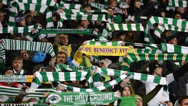 Celtic fans at the Champions League game against Spartak Moscow