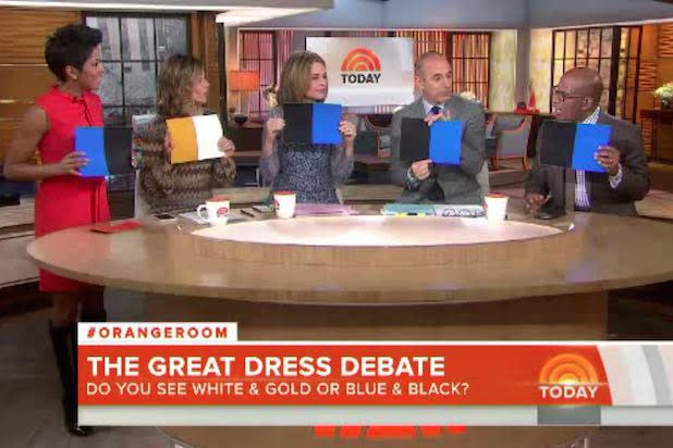 #TheDress Debate Divides 'Today Show,' 'Good Morning America,' KTLA Morning News Team (Video)