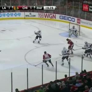 Jonathan Quick Save on Marcus Kruger (00:33/2nd)