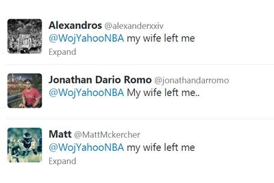The real Wojbombs aren't tweeted by Adrian Wojnarowski, they're tweeted to him