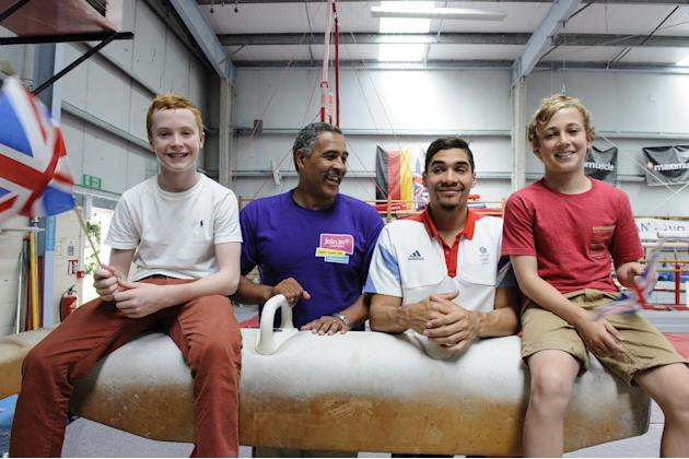 Louis Smith and Daley Thompson Visit Huntingdon Gymnastics Club To Inspire The Nation To Join In Local Sports