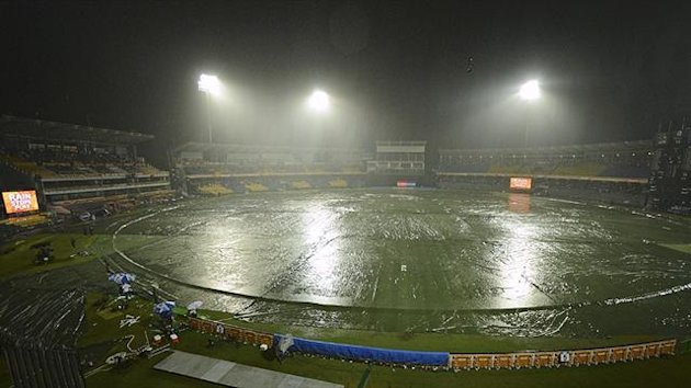 Rain delays play at the Premadasa Stadium in Colombo (Reuters)