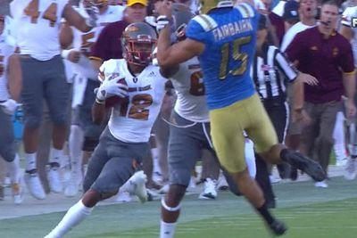 UCLA kicker got blocked so badly, he accidentally made the tackle