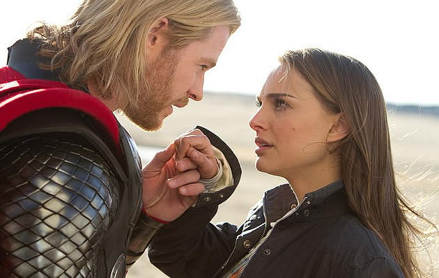 Thor and his lady love try to be romantic