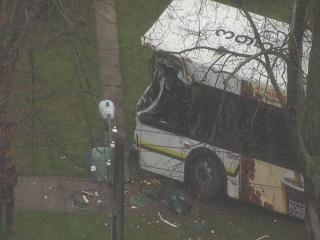 Ten injured in DDOT bus crash