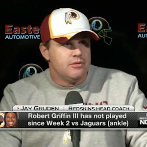 Washington Redskins head coach Jay Gruden on quarterback Robert Griffin III: 'If everything goes well, he'll start'