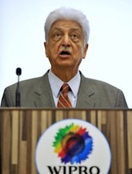 <p>Wipro chairman Azim Premji addresses a press conference in Bangalore, on November 2, 2012. India has 55 billionaires but like other emerging economies its charitable giving still lags markedly behind that in the West where the tradition of wealthy businessmen donating chunks of their fortunes is much more deeply ingrained.</p>